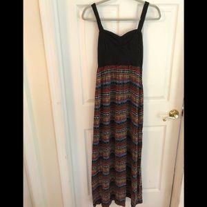 MUDD multicolor maxi dress